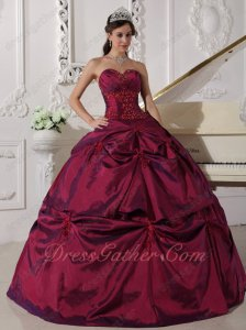 Cardinal Red Sweetheart Evening Ball Dress Low Price