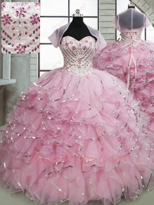Silver Sequin Edge Organza Ruffles Skirt Fotos De Quinceanera 2020 For 16 Years Old