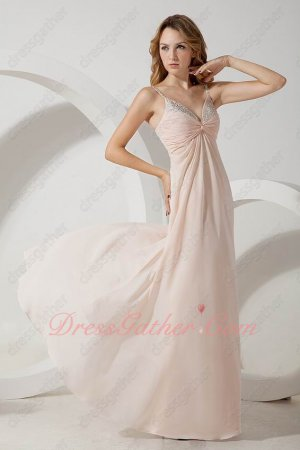 Sexy Straps Criss Cross Light Pink Long Buy Prom Dresses Vocal Accompaniment