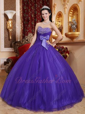 Simple Mesh Amethyst Blue Purple Quince Evening Ball Gown Consult For Discount Coupon