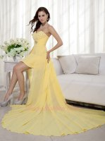 Daffodil Short Package Hips Skirt With Waist Court Train High Low Cocktail Dress