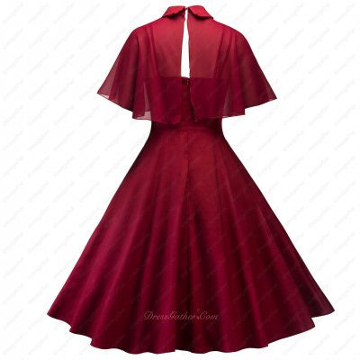 Discount Spandex Fabric Knee Length Wine Red Prom Homecoming Dress and Short Colark