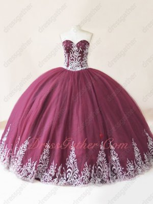 Best Seller Western Vestidos De Quinceanera Burgundy With Silver Embroidery