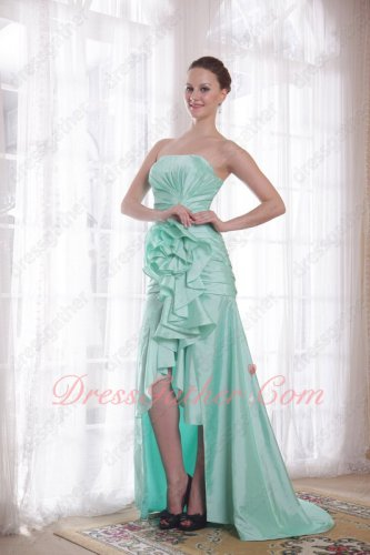 Mint Green Taffeta High-low Skirt Sweep Train Juniors Outdoor Cocktail Dresses Up