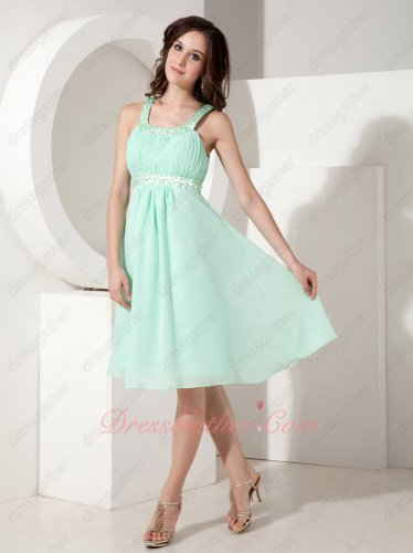 Mint Apple Green Chiffon Junior Short Formal Party Dresses Lovely