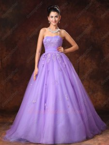 Flat Multilayers Smooth Tulle Lilac Cheap Quinceanera Dress Supplier Online