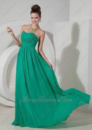 Slender Turquoise Chiffon Bridal Party Girls Bridesmaid Dress Foil the Bride