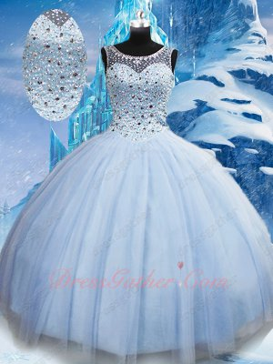 Nifty Baby Blue Latin America Girl Quinceanera Ceremony Ball Gown Discount Online
