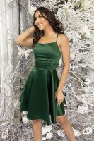 Gorgeous Spaghetti Strap Deep Green Mini Homecoming Dress Young Girl