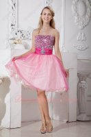 Beadwork Crystals Strapless Colorful Layers Tulle Sweet Sixteen Prom Dresses Pageant