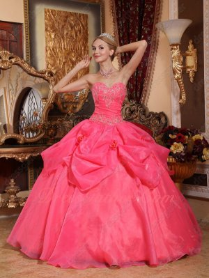 Classical Coral Red Corsets Basque Winter Quinceanera Dress Floor Length Without Train