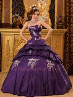 Quality-assured Purple Quince Ball Gown Girl's Wear For 15th Birthday