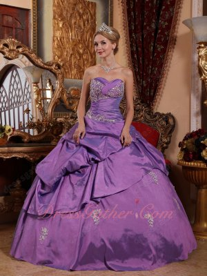 Dark Mauve Plum Taffeta Old Fashion Quinceanera Prom Ball Gown Make Your Own