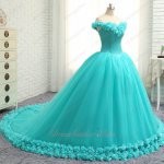 Graceful Off Shoulder V Neck Puffy Aqua Quinceanera Gowns 3D Flowers Hemline Triangular