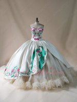 Blessed Virgin Mary Embroidery Religious Western Quinceanera Gown Girls First Communion