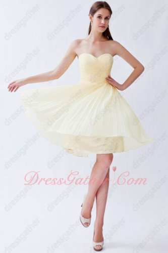 Sweetheart Light Yellow Daffodil Mini Skirt Bridesmaid Dress Free Shipping Under 70