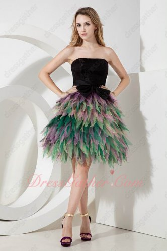 Black Bodice Colorful Tutu Layers Party Prom Gowns National Tribe Aborigines