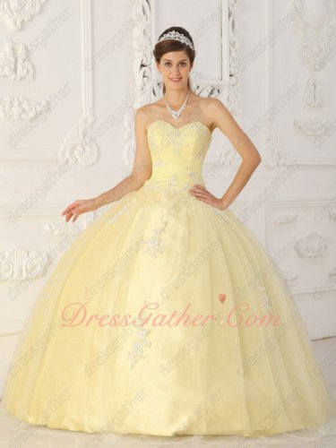 Daffodil Light Yellow Mesh Military Celebrity Ball Gown With Petticoat