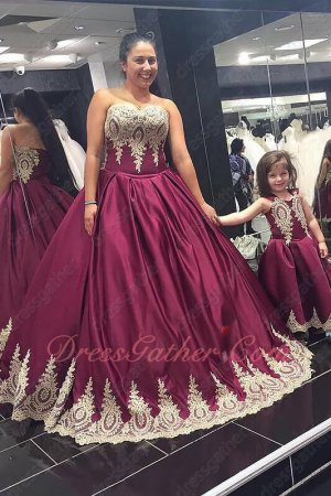 Graceful Darkest Wine Quinceanera Ball Gown Ananas Comosus Flower Pattern Appliques Hem