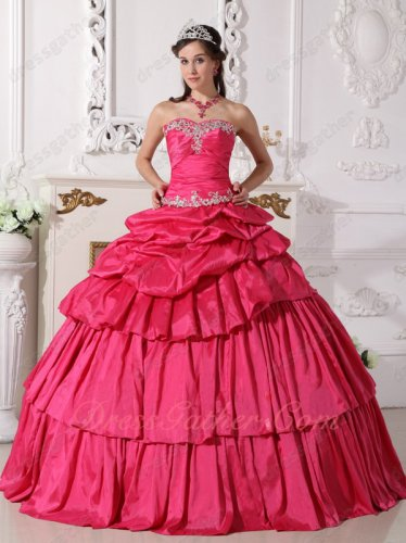 Detachable Two Pieces Ball Gown/Package Short Skirt Hot Pink Quinceanera Gown